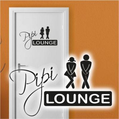 TA020 Tür Aufkleber Pipi Lounge Badezimmer