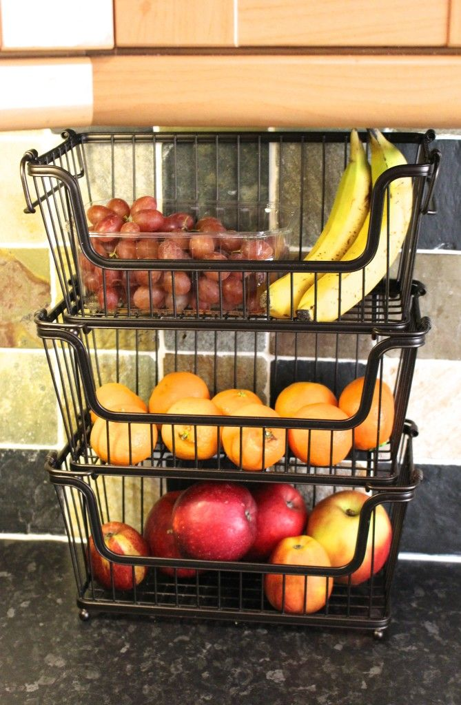 Stacking Fruit Baskets Kitchen Organisation Kitchen