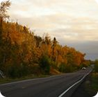 Fall foliage along a scenic route on the Superior National forest. USDA photo.