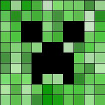 Minecraft Creeper perler bead pattern
