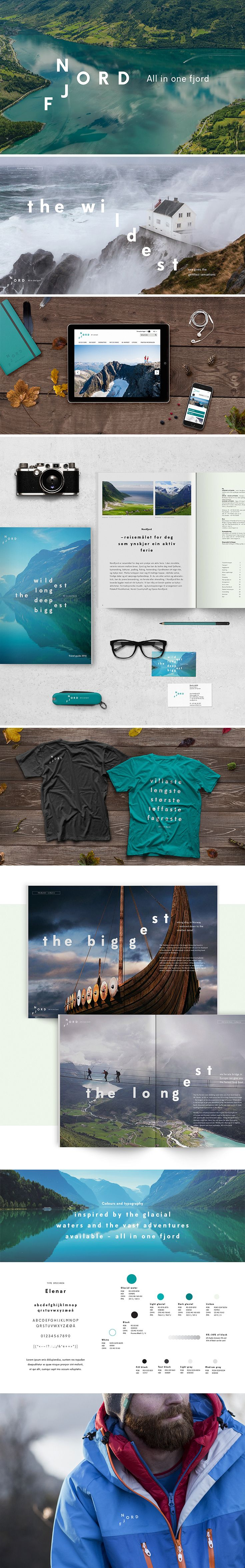 Visual identity for Visit Nordfjord, Norway | By Creuna