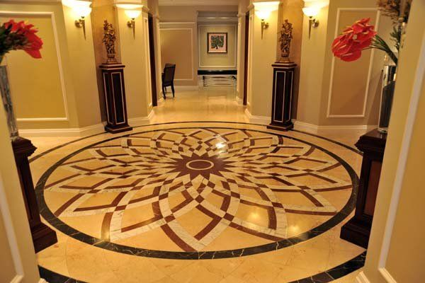 Wall and floor tilling work done by Ceragran at The Taj Hotel