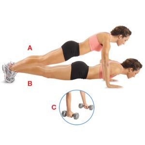 Pushups, I love the dumbbell tip for hurt wrists.