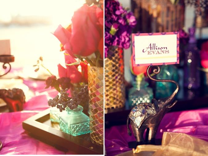 94 best a whole new world wedding images on pinterest weddings arabian wedding place cards place card holder purple fuchsia gold with turquoise junglespirit Choice Image