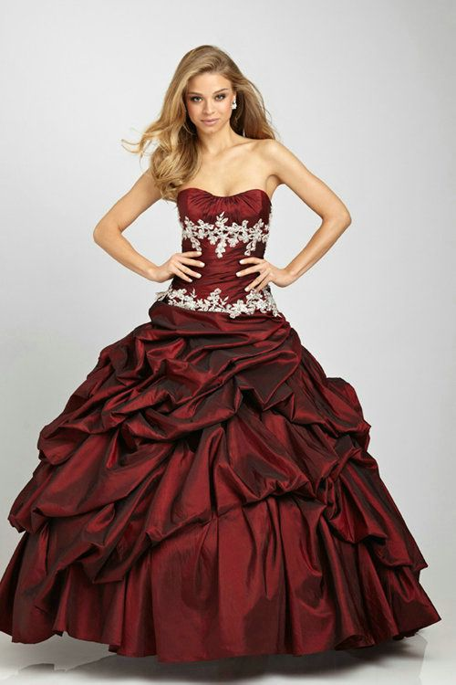 Appliques Ruched Long Ball Gown Strapless Lace Up Burgandy Quinceanera Dresses Websites