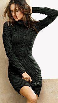 #black cable knit sweater dress-Fall  Skirt Knit  #2dayslook #SkirtKnit #fashion #new  www.2dayslook.com