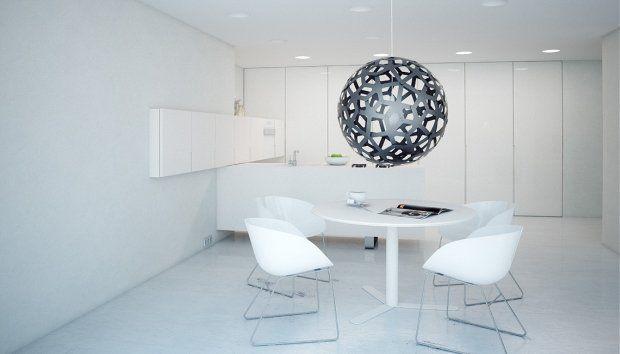 Minimalistyczne mieszkanie w czerni i bieli - kuchnia. Projekt: Modom Studio - zdjęcie