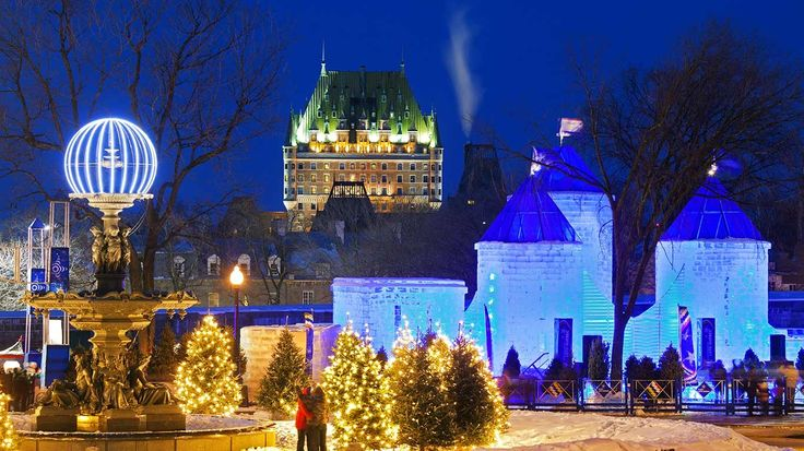 Quebec Winter Carnival, Ice Palace of Bonhomme Carnaval, Quebec ...