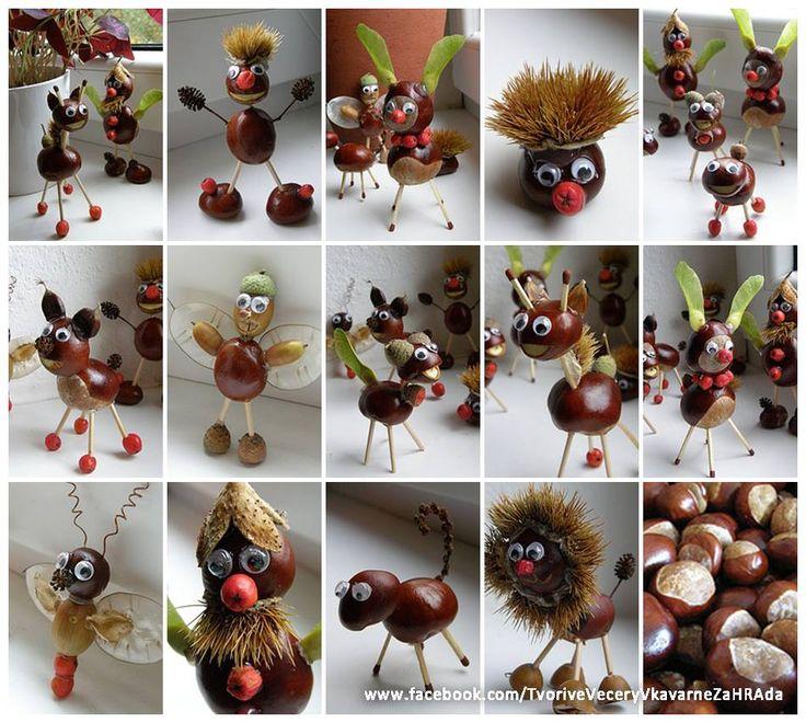 Zin in leuke herfstknutsels? Hier vind je een aantal tips voor creatieve ideetjes met kastanjes.