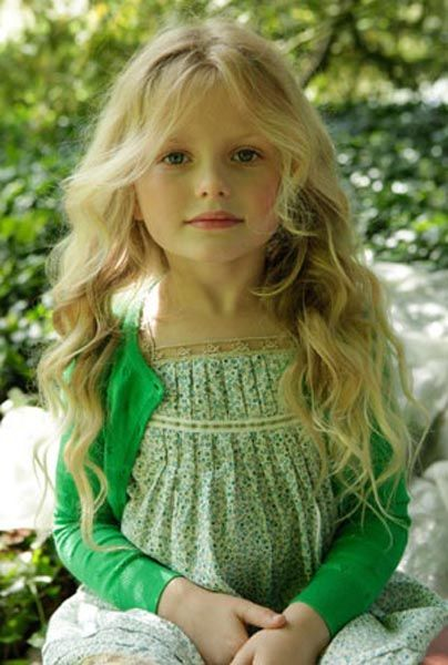 Little Beauty Royalty Free Stock Images: Green Dress And Blonde Hair - Beauty!