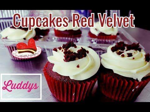 Postres para vender en San Valentin ❤ Cupcakes Red Velvet con betún de Queso - YouTube