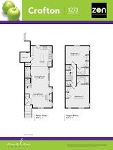 Crofton floorplan in Auburn Bay, Calgary AB