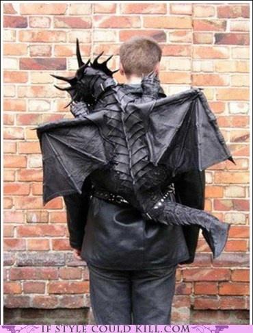 Awesome backpack: Geek, Cool Backpacks, Backpacks Double, Awesome Backpacks, Costumes, Dragon Backpacks, Dragon Bags, Leather Backpacks, Leather Dragon
