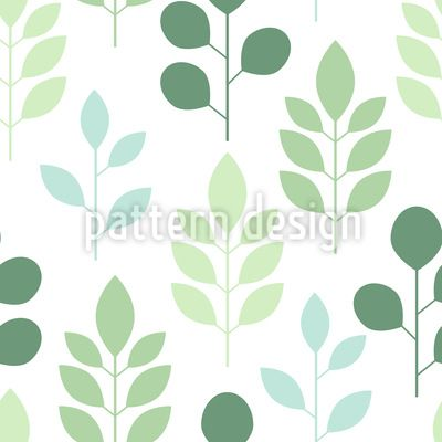 Abstract trees and leaves Pattern Design Pattern Design by Elena Alimpieva at patterndesigns.com