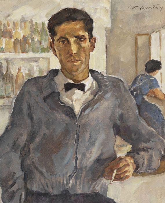 Lotte Laserstein - Der spanische Kellner, 1958
