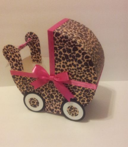 Leopard/Hot Pink Baby Carriage Table Centerpiece Baby Shower Decor |  AlmostBabyTime   Childrenu0027s On