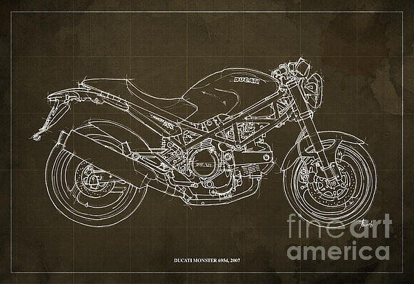 Ducati Monster 695d 2007 Poster By Pablo Franchi
