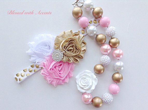 Pink and gold first birthday baby girl first by BlessedwithAccents