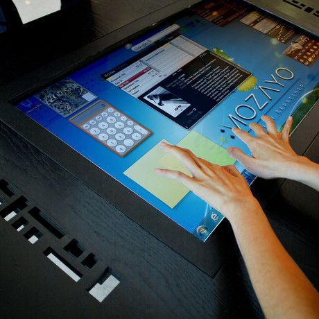 Coffee table + multi-touch electronic technology in one!