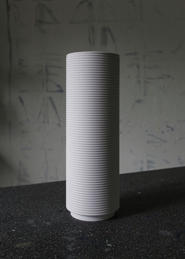 Urn in Chalk, designed by Camilla Wedelboe Monsrud 2016   Danish Design