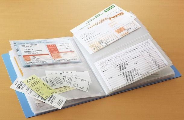 コクヨの領収書&明細ファイルが会報を入れるのに丁度良いと人気らしい inspi