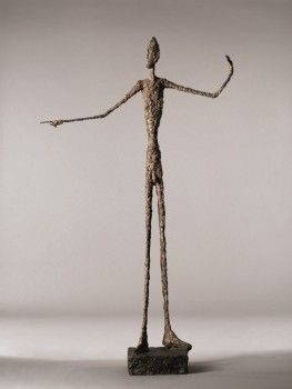 Alberto Giacometti, L'Homme au doigt, 1947, bronze. COURTESY CHRISTIE'S
