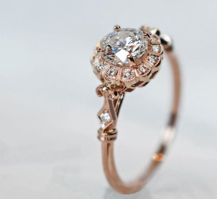Charmed Aroma - Vintage Rose Gold Diamond Ring ✌ ▄▄▄Click…