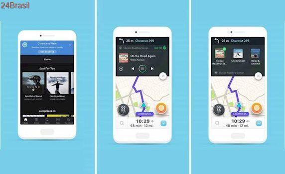 Spotify agora funciona dentro do Waze