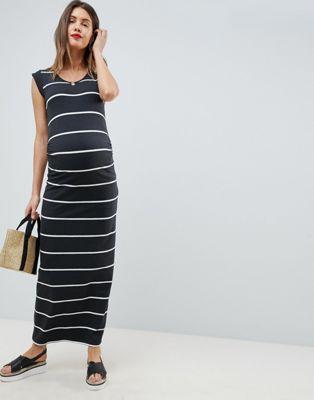 1050ab447b Mamalicious striped jersey maxi dress