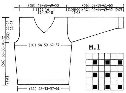 """DROPS Trui of Slip-over met structuurpatroon van """"Karisma Superwash"""". Maat 12/14 jaar - XXL. ~ DROPS Design"""