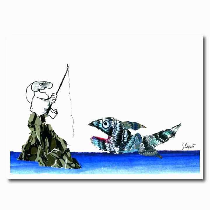 Stampe digitali : Pulcinella e il pesce magico