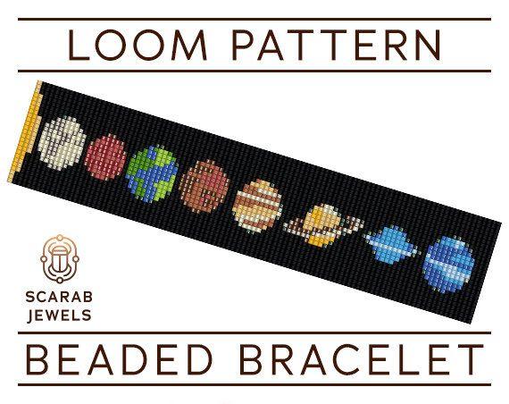 Solar System Pattern Loom Beading Bracelet Cuff Bead
