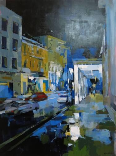 "Saatchi Art Artist artist Chu Van; Painting, ""Trang Tien Street"" #art"
