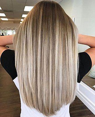 Nahtloses Klebeband mit vollem Glanz in den Haarverlängerungen Farbe # 10 und # 14 und # 60 hervorgehoben