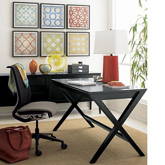 crate and barrel home office. Spotlight Ebony 48\ Crate And Barrel Home Office