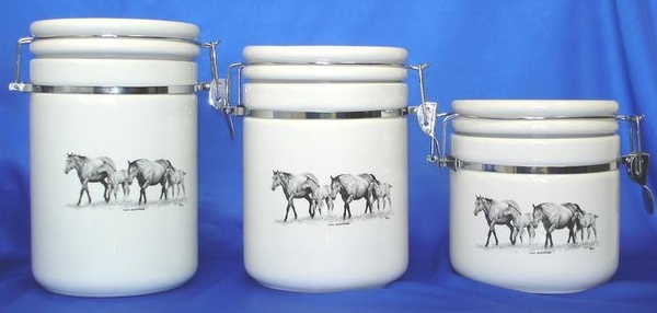 Canister Set Young and Restless Texas and Western Kitchen Decor