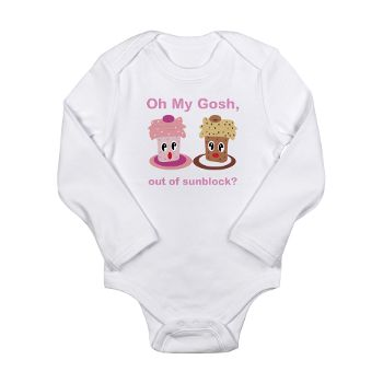 Cupcake Talk: Out of Sunblock? Long Sleeve Infant bodysuit #circusvalley This can be personalized/you can change text or image.. Also available on a lot of other products.
