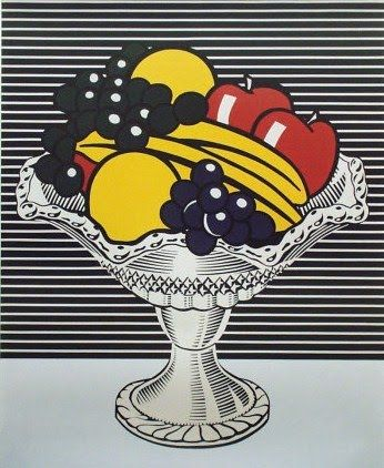* Roy Lichtenstein - Still life with crystal bowl 1973 | magna on canvas more about Lichtenstien here: http://www.theartstory.org/artist-lichtenstein-roy.htm