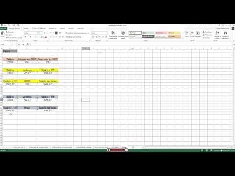 Férias e abono pecuniário (vender férias) no Excel