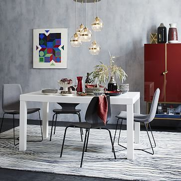 Also great used as a double desk. Parsons Dining Table - Rectangle #westelm