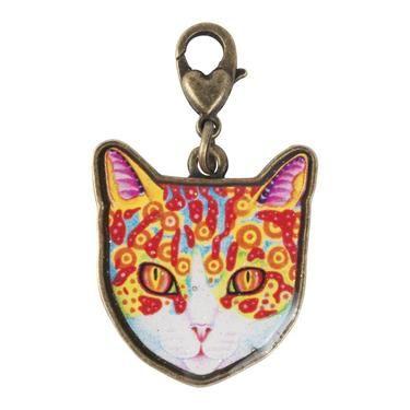 Thaneeya Cat Face 1 Charm Multicoloured