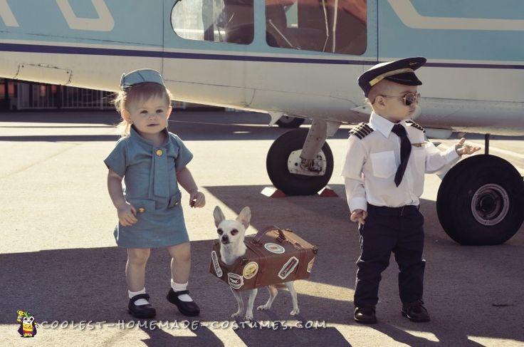Pilot, Stewardess and Luggage