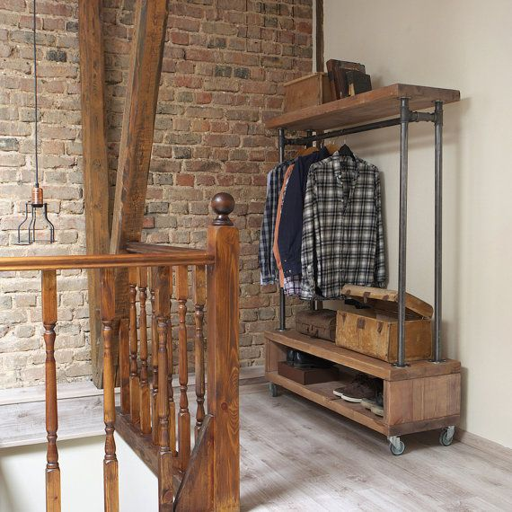 Industrial Style Clothing Storage Unit/Clothes Rail Made Of Reclaimed Pine  Wood. In Home, Furniture U0026 DIY, Storage Solutions, Clothes Rails U0026 Coat  Stands