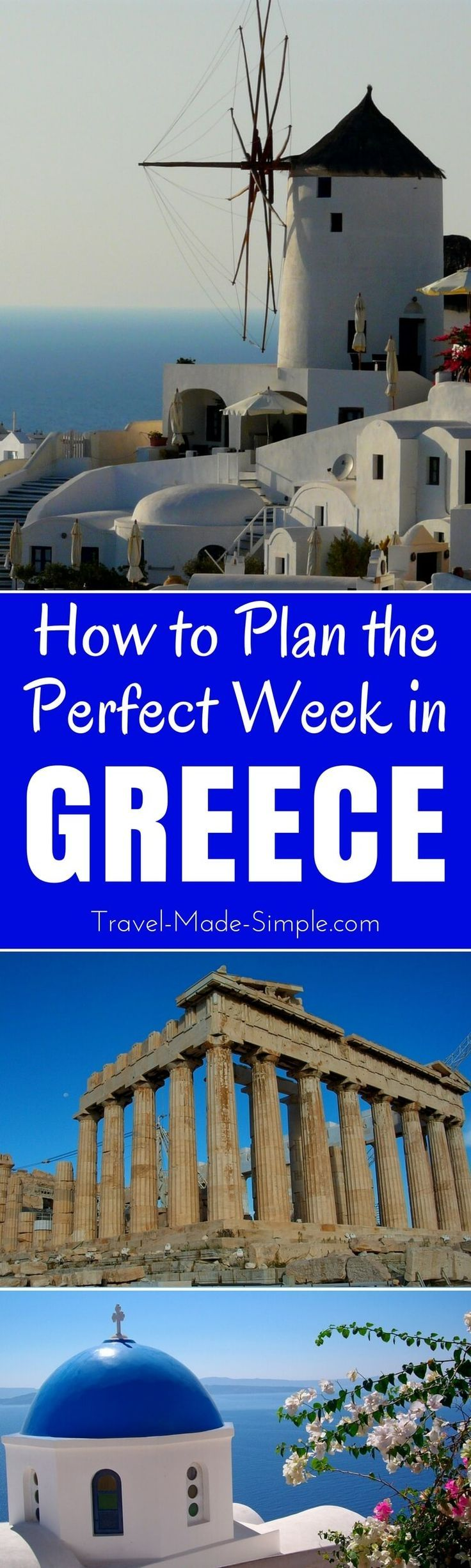 Here's how to make the most of one week in Greece. From the ruins to the islands, plan a trip to Greece with our Greece itinerary and enjoy your dream vacation! | one week in Greece | two weeks in Greece | travel to Greece | Greece travel planning tips | Greece tourist attractions | travel in Greece
