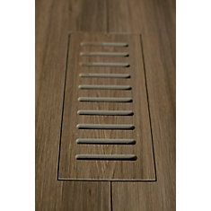 Porcelain vent cover made to match Corte Aged Teak Plank tile. Size - 5 Inch x 11 Inch