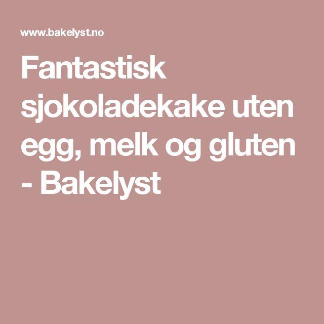 Fantastisk sjokoladekake uten egg, melk og gluten - Bakelyst