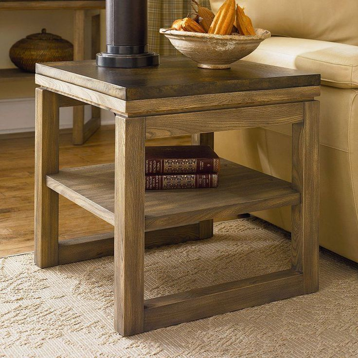 Delightful Hammary Spaces Square End Table   Natural Driftwood   196 915