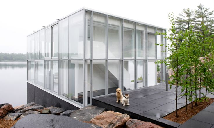 The Toronto based architecture firm gh3 won a Governor General's Medal in Architecture in 2010 for this striking project. It's a glass cube ...