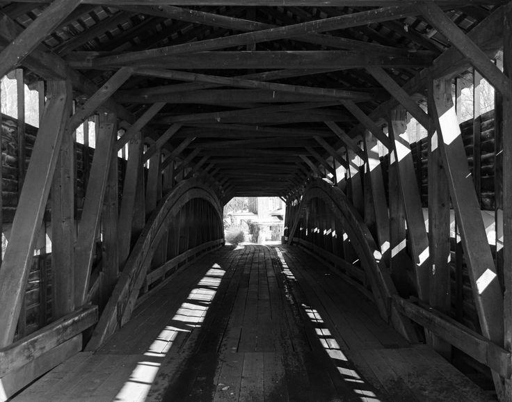 Drebilibis Station Covered Bridge Lenhartsville Pa Covered Bridges Black And White Hometown
