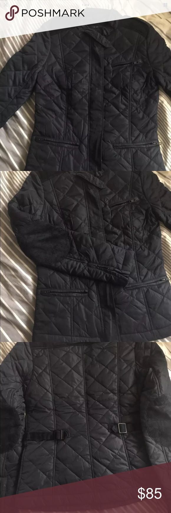 French Connection Black Quilted Jacket! NWT Sz 8 Chic Black Quilted Moto Jacket by Designer French Connection! Tons of Details....see pics!   Brand New with Tags! Original Price $198   Sz 8   For you or GREAT Christmas gift!!! French Connection Jackets & Coats